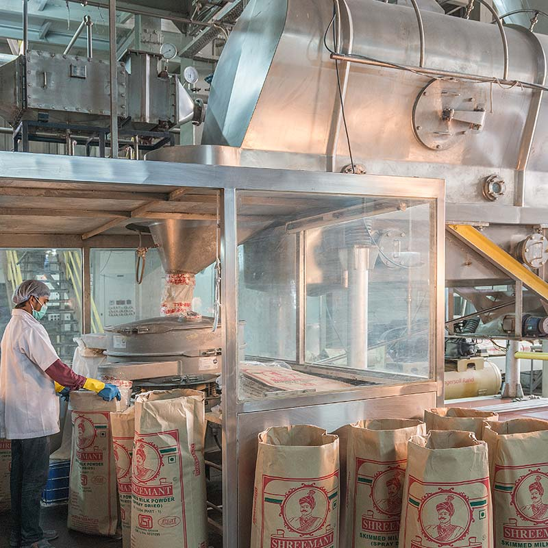 manufacturing of milk powder