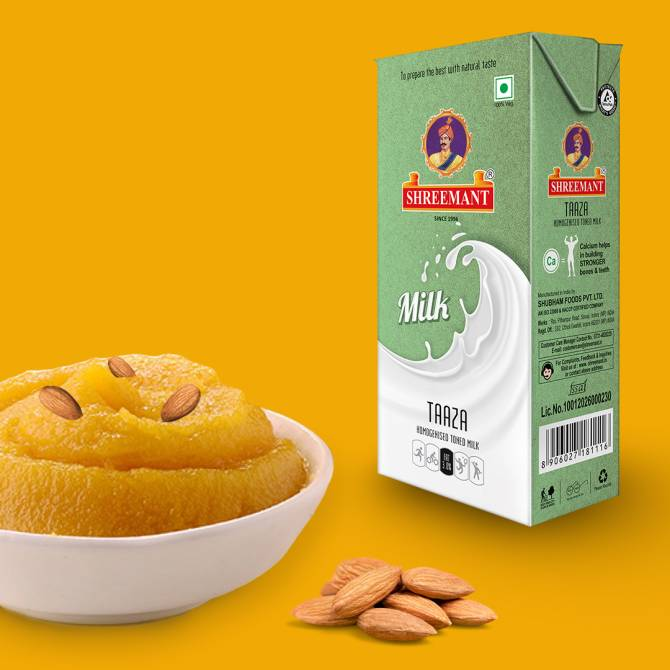 Make badam halwa with shreemant UHT Milk